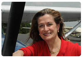 Elizabeth Belenchia Leaning on an Aircraft, Site Selection Spartanburg, SC