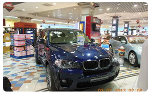 Blue BMW SUV, Commercial Business Property Spartanburg, SC